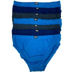 Rio Plain Hipster Brief 7-Pack MXL47W Blue/Grey