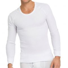 Holeproof Aircel Thermal Long Sleeve Tee MYPU1A White Mens T-Shirt