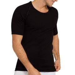 Holeproof Aircel Round Neck Thermal Short Sleeve Tee MYQ31A Black