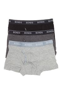 Bonds Guyfront Trunk 3-Pack MZ963A Grey Mens Underwear