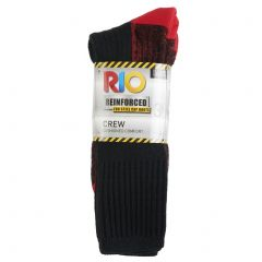 Rio No Hole Work Crew 3-Pack S74583 Red White Mens Socks