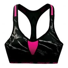 Tradie Lady Active Bra WJ2855SR Marble Hot Pink Womens Underwear