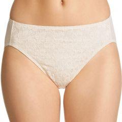 Jockey No Ride Up Lace Hi-Cut Brief WWLN Cream Womens Underwear