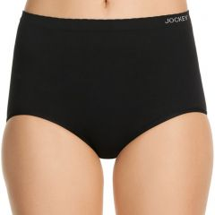 Jockey Women Everyday Seamfree Full Brief WWWC Black Womens Underwear