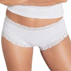 Jockey Parisienne Cotton Boyleg WYL8 Grey Stripe Womens Underwear