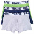 Tradie 3 Pack Fitted Trunks MJ1194WK3 Nightlife Mens Underwear