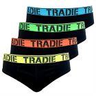 Tradie 4 Pack Brief MJ1195SB4 Black Mens Underwear