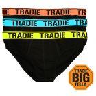 Tradie Big Fella 3 Packs Briefs MJ1958SB3 Black Mens Underwear