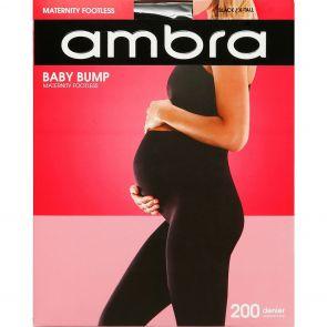 Ambra Baby Bump 200D Footless Tight AMBB200FTL Black Multi-Buy
