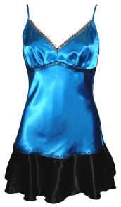 Bassoni Satin Slip With Embroidery 9282cl Teal