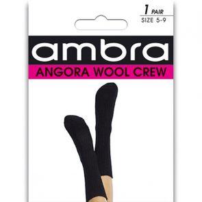 Ambra Angora Wool Crew Socks AMWACR Black Multi-Buy