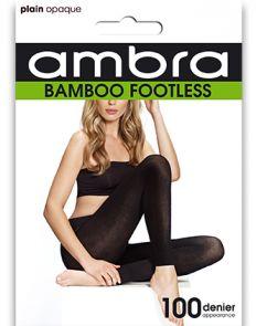 Ambra Organic Bamboo Footless Tights BAMFT Black Multi-Buy