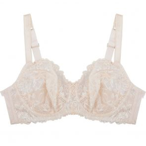 Fayreform Olive Lace Underwire Bra F75-590 Pink Champagne/Ivory