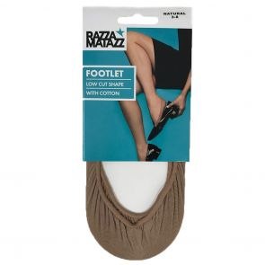 Razzamatazz Seamless Footlet H80054 Natural Multi-Buy