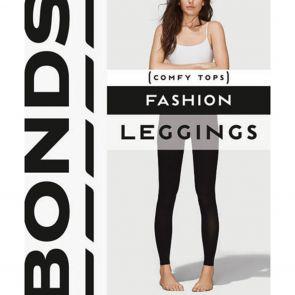 Bonds Womens Textured Rib Legging L79624 Charcoal Marle Multi-Buy