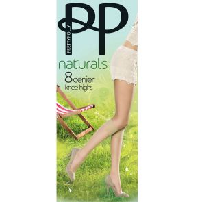 Pretty Polly 8D Natural Knee High 2 Pack PNEF24 Slightly Sunkissed