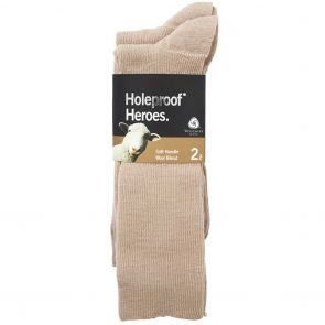 Holeproof Rib Wool Bus S10012 Oatmeal