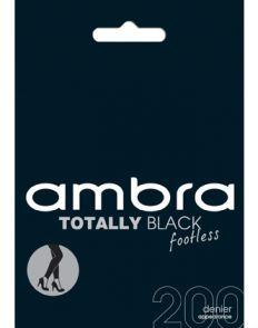 Ambra 200D Totally Black Footless Tights ATOBLFTLS Black Multi-Buy