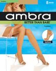 Ambra Better Than Bare No Toe Pantyhose BETNTPH Natural Bisque Womens Hosiery