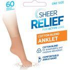 Sheer Relief Cotton Blend Anklets H33096 Beige Womens Socks