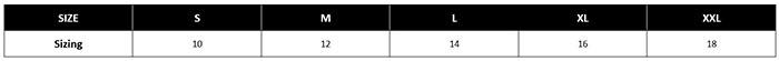 Bendon Shape Size Chart